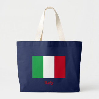 Flag of Italy Large Tote Bag