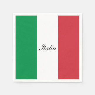 Flag of Italy Paper Napkin