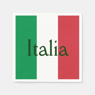 Flag of Italy Paper Serviettes