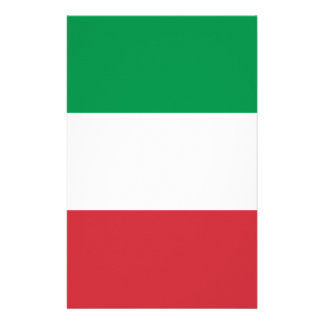 Flag of Italy Personalised Stationery