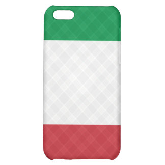 Flag of Italy Plaid ® Fitted™  Cover For iPhone 5C