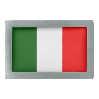 Flag of Italy Rectangular Belt Buckle
