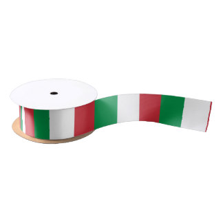 Flag of Italy ribbon Satin Ribbon