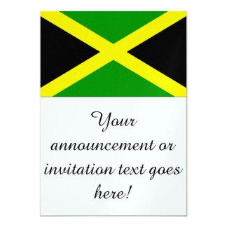 Flag of Jamaica 13 Cm X 18 Cm Invitation Card