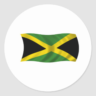Flag of Jamaica Classic Round Sticker