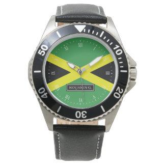 Flag of Jamaica Custom Name Watches