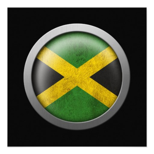 Flag of Jamaica Disc Personalized Invitations