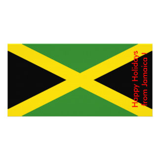 Flag of Jamaica, Happy Holidays from Jamaica Photo Greeting Card
