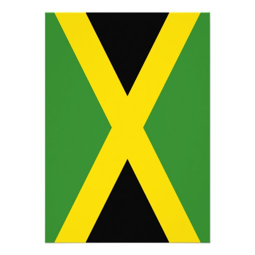 Flag of Jamaica Personalized Invitation