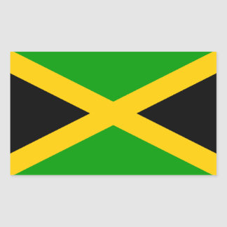 Flag of Jamaica Rectangular Sticker