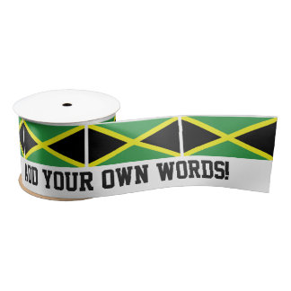 Flag of Jamaica Satin Ribbon