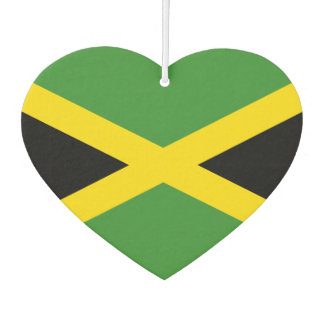 Flag of Jamaican on metal background Car Air Freshener