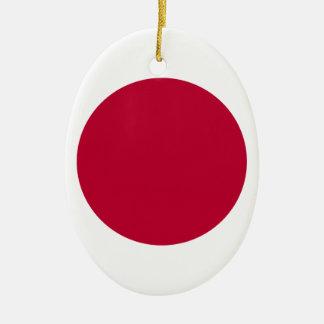Flag of Japan - 日章旗 - 日の丸 - 日本の国旗 Ceramic Oval Decoration