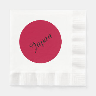 Flag of Japan or Hinomaru Disposable Serviette