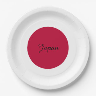 Flag of Japan or Hinomaru Paper Plate