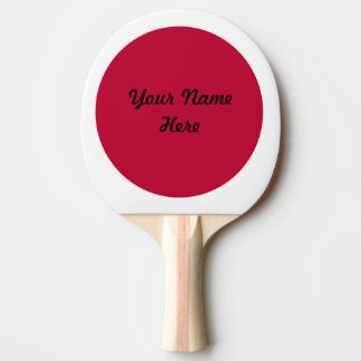Flag of Japan or Hinomaru Ping Pong Paddle