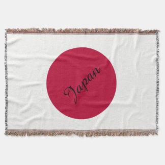 Flag of Japan or Hinomaru Throw Blanket