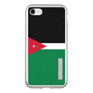 Flag of Jordan Silver iPhone Case