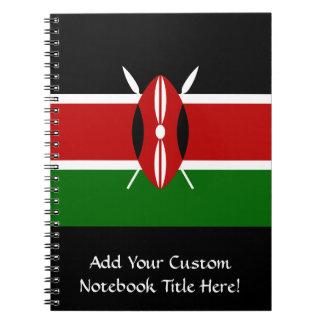 Flag of Kenya Africa Spiral Notebook