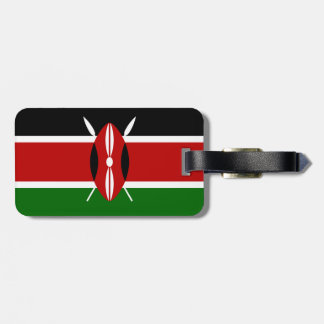 Flag of Kenya Luggage Tag w/ leather strap