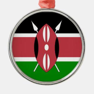 Flag of Kenya Metal Ornament