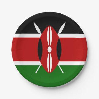 Flag of Kenya Paper Plates