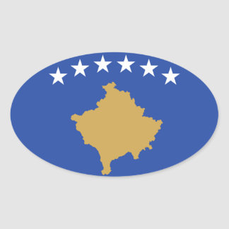 Flag of Kosovo Oval Sticker