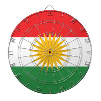 Flag of Kurdistan; Kurd; Kurdish Dartboard