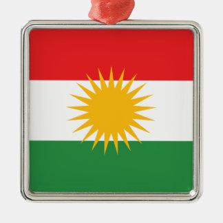 Flag of Kurdistan; Kurd; Kurdish Metal Ornament