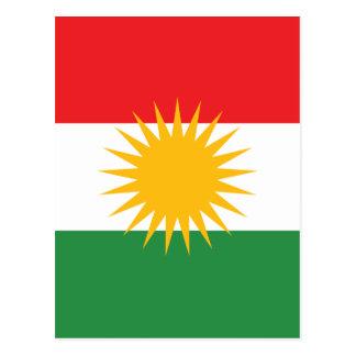 Flag of Kurdistan; Kurd; Kurdish Postcard