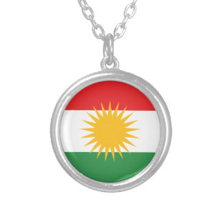 Flag of Kurdistan; Kurd; Kurdish Silver Plated Necklace