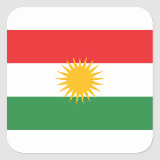 Flag of Kurdistan; Kurd; Kurdish Square Sticker
