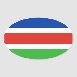 Flag of Laarbeek Oval Sticker