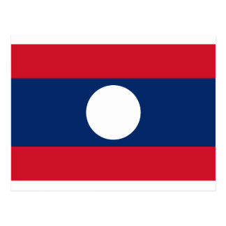 Flag of Laos - Laotian flag - ທຸງຊາດລາວ Postcard