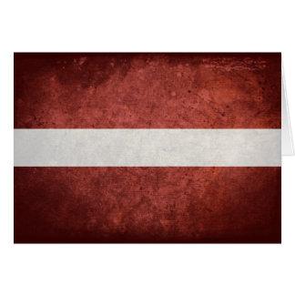 Flag of Latvia Greeting Cards