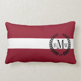 Flag of Latvia Lumbar Pillow