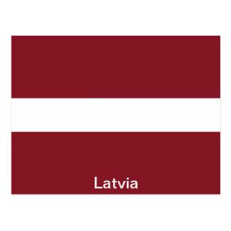 Flag of Latvia Postcard