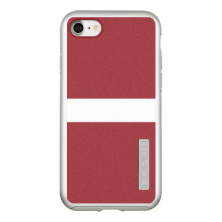 Flag of Latvia Silver iPhone Case