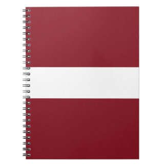 Flag of Latvia Spiral Notebook