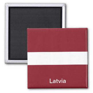 Flag of Latvia Square Magnet
