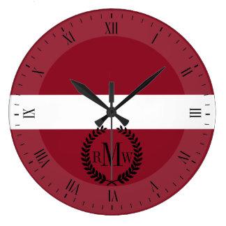 Flag of Latvia Wall Clocks