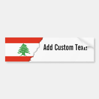 Flag of Lebanon Bumper Sticker