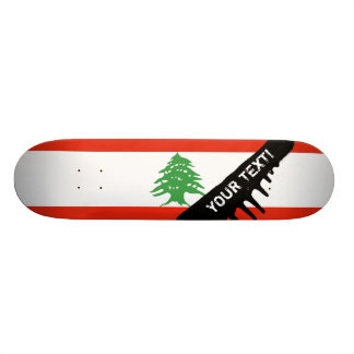 Flag of Lebanon Custom Skateboard