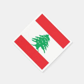 Flag of Lebanon Paper Napkins Disposable Napkin