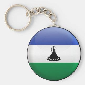 Flag of Lesotho Basic Round Button Key Ring
