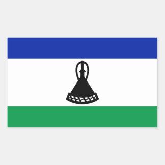 Flag of Lesotho Rectangular Sticker
