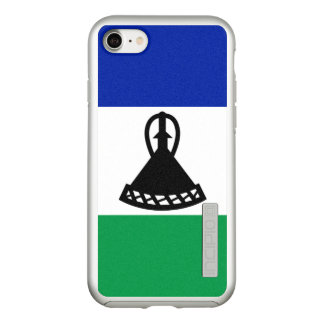 Flag of Lesotho Silver iPhone Case