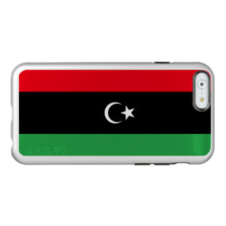 Flag of Libya Silver iPhone Case