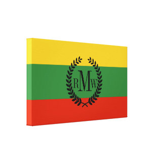 Flag of Lithuania Canvas Print