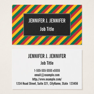 Flag of Lithuania Inspired Colored Stripes Pattern Business Card